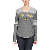 Concepts Sport Women's Boston Bruins Walk-Off Heather Grey V-Neck Long Sleeve Shirt