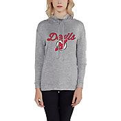 Concepts Sport Women's New Jersey Devils Cowl Neck Heather Grey Sweatshirt