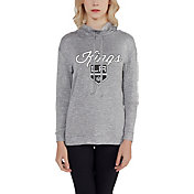 Concepts Sport Women's Los Angeles Kings Cowl Neck Heather Grey Sweatshirt