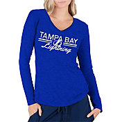 Concepts Sport Women's Tampa Bay Lightning Ladies Royal Long Sleeve V-Neck Shirt