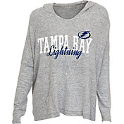 Concepts Sport Women's Tampa Bay Lightning Heather Grey Long Sleeve Hoodie Shirt