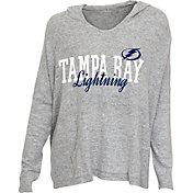 Concepts Sport Women's Tampa Bay Lightning Heather Grey Long Sleeve Hoodie Shirt