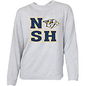 Concepts Sport Women's Nashville Predators NSH Heather Grey Crew Fleece Sweatshirt