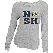 Concepts Sport Women's Nashville Predators NSH Knit Heather Grey Long Sleeve Shirt