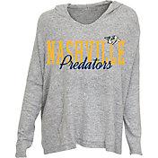 Concepts Sport Women's Nashville Predators Heather Grey Long Sleeve Hoodie Shirt