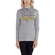Concepts Sport Women's Nashville Predators Cowl Neck Heather Grey Sweatshirt