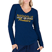 Concepts Sport Women's Nashville Predators Ladies Navy Long Sleeve V-Neck Shirt