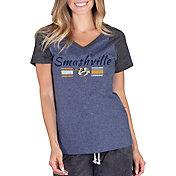 Concepts Sport Women's Nashville Predators Smashville Quest Navy Heathered V-Neck T-Shirt