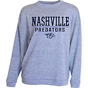 Concepts Sport Women's Nashville Predators Logo Royal Crew Fleece Sweatshirt