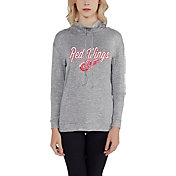 Concepts Sport Women's Detroit Red Wings Cowl Neck Heather Grey Sweatshirt