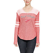 Concepts Sport Women's Detroit Red Wings Walk-Off Red Heathered V-Neck Long Sleeve Shirt