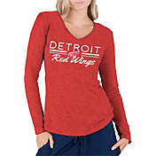 Concepts Sport Women's Detroit Red Wings Ladies Red Long Sleeve V-Neck Shirt