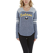 Concepts Sport Women's Buffalo Sabres Walk-Off Navy Heathered V-Neck Long Sleeve Shirt