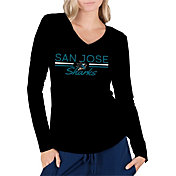 Concepts Sport Women's San Jose Sharks Ladies Black Long Sleeve V-Neck Shirt