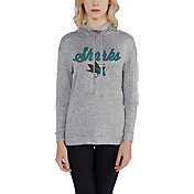 Concepts Sport Women's San Jose Sharks Cowl Neck Heather Grey Long Sleeve Shirt