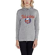 Concepts Sport Women's New York Islanders Cowl Neck Heather Grey Sweatshirt