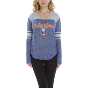 Concepts Sport Women's New York Islanders Walk-Off Royal Heathered V-Neck Long Sleeve Shirt