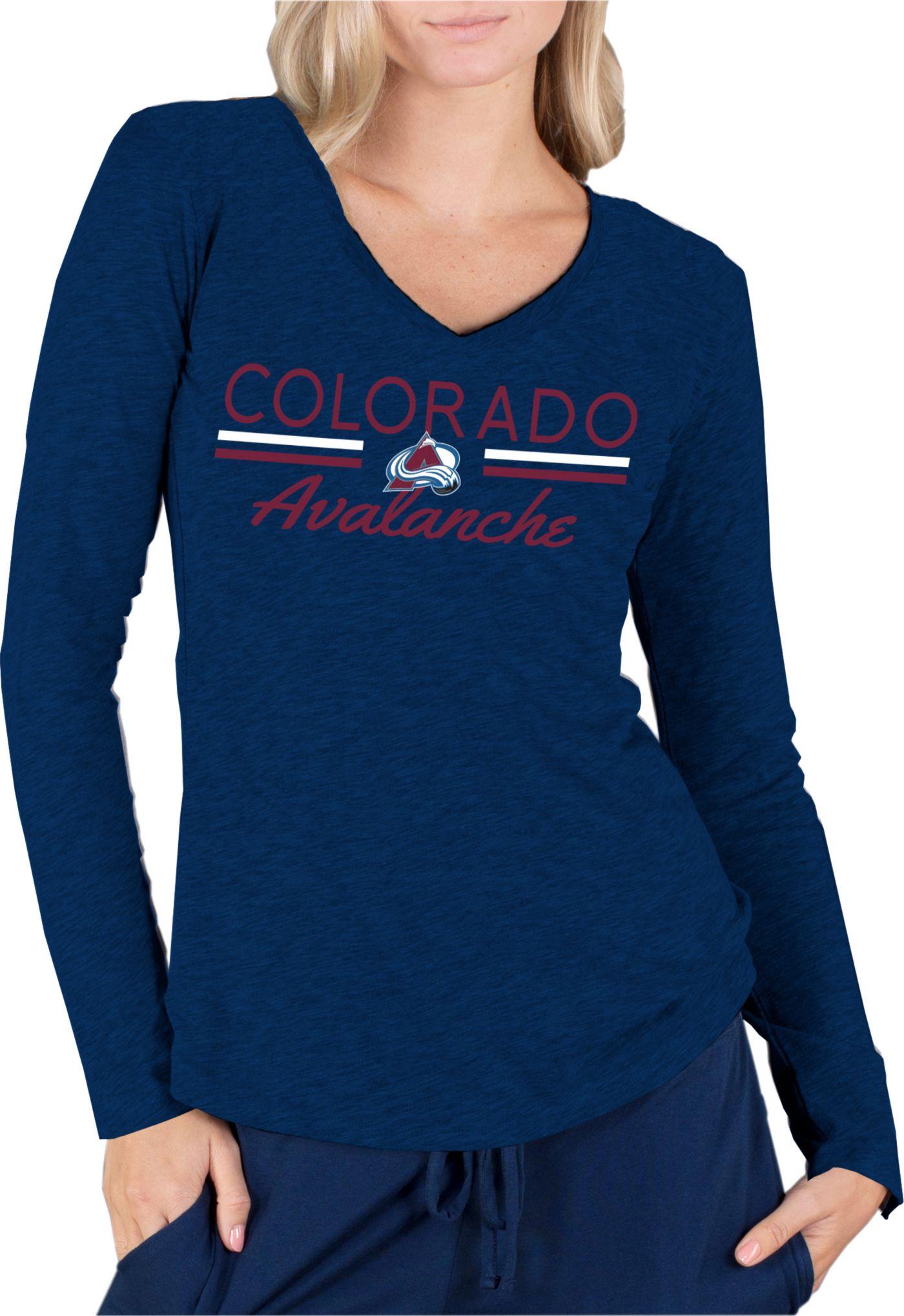 Concepts Sport Women's Colorado Avalanche Ladies Navy Long Sleeve V-Neck Shirt