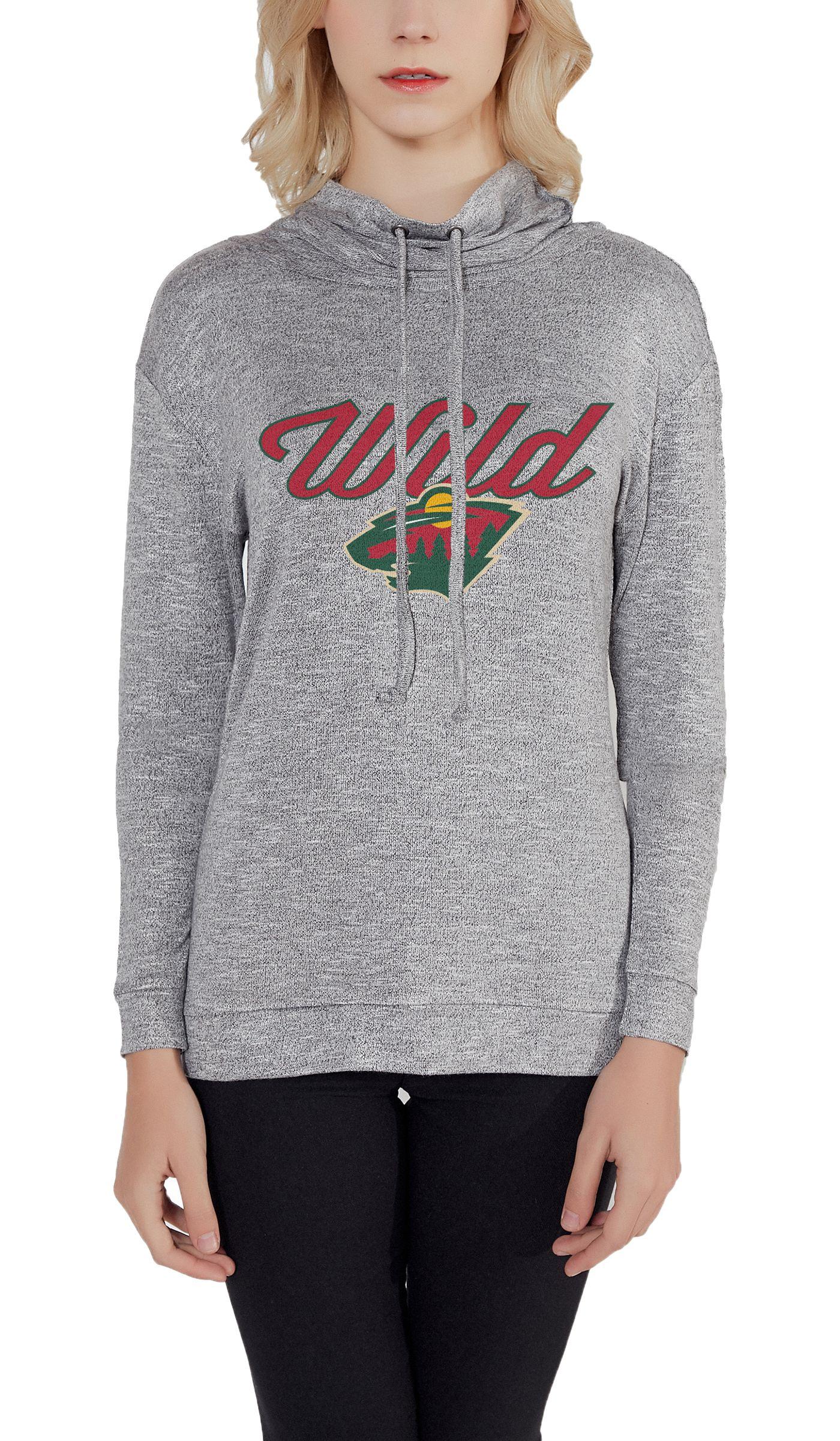 Concepts Sport Women's Minnesota Wild Cowl Neck Heather Grey Long Sleeve Shirt