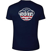 Costa Del Mar Men's Chrome USA Short Sleeve T-Shirt