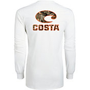 Costa Del Mar Men's Realtree Edge Camo Logo Long Sleeve Shirt