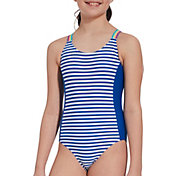 DSG Girls' Crossback Girl Power Swimsuit