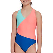 DSG Girls' Crossback Sport Fanatic Swimsuit