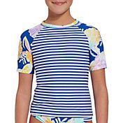 Girls' Yoga Practice Short Sleeve Rash Guard