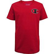 Champion Boys' Textured C Logo T-Shirt