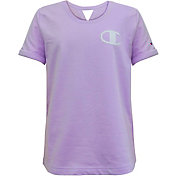 Champion Girls' French Terry Keyhole Tee