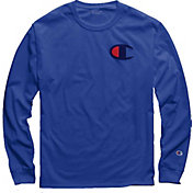 Champion Men's Big C Jersey Long Sleeve Tee