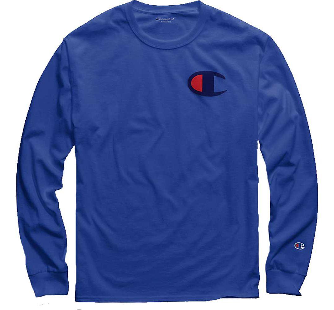 4ee46d29 Champion Men's Big C Jersey Long Sleeve Tee | DICK'S Sporting Goods
