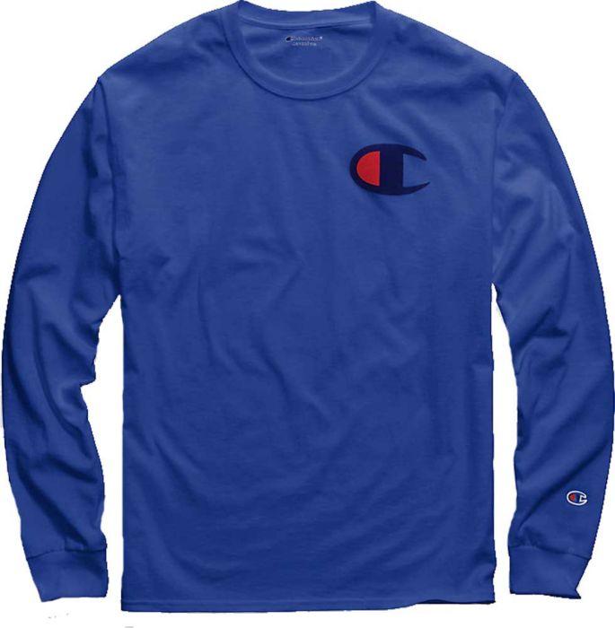 35b5e53a9500 Champion Men's Big C Jersey Long Sleeve Tee | DICK'S Sporting Goods