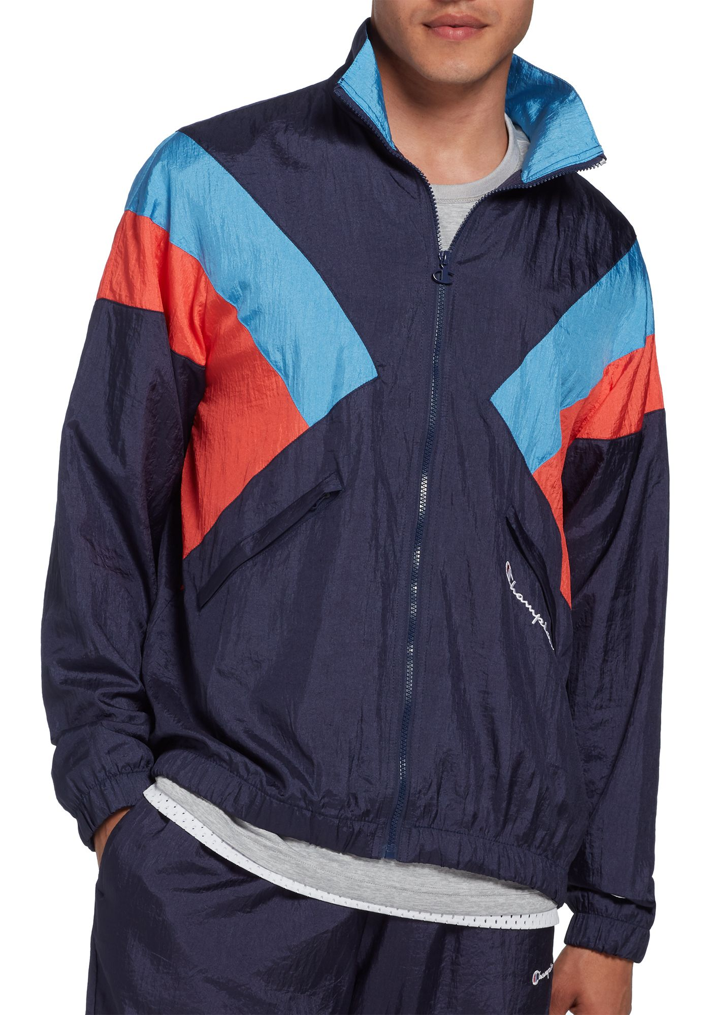Champion Life Men's Nylon Warm Up Jacket