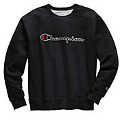 Champion Men's Stitched Script Fleece Crew Pullover