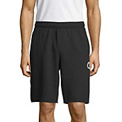 Champion Men's Graphic Powerblend Fleece Shorts in Black