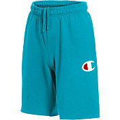 Champion Men's Graphic Powerblend Fleece Shorts in Tidal Wave