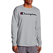 Champion Men's Chest Script Long Sleeve Tee