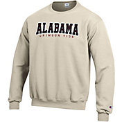 Champion Men's Alabama Crimson Tide Grey Powerblend Pullover Sweatshirt
