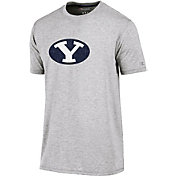 Champion Men's BYU Cougars Grey Crew Performance T-Shirt