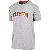 Champion Men's Clemson Tigers Grey Crew Performance T-Shirt