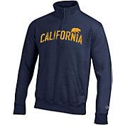 Champion Men's Cal Golden Bears Blue Powerblend Quarter-Zip Shirt