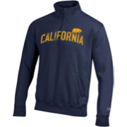 Champion Men's Cal Golden Bears Blue Powerblend Quarter-Zip Shirt