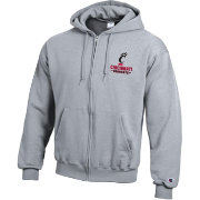 Champion Men's Cincinnati Bearcats Grey Powerblend Full-Zip Hoodie