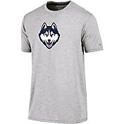 Champion Men's UConn Huskies Grey Crew Performance T-Shirt