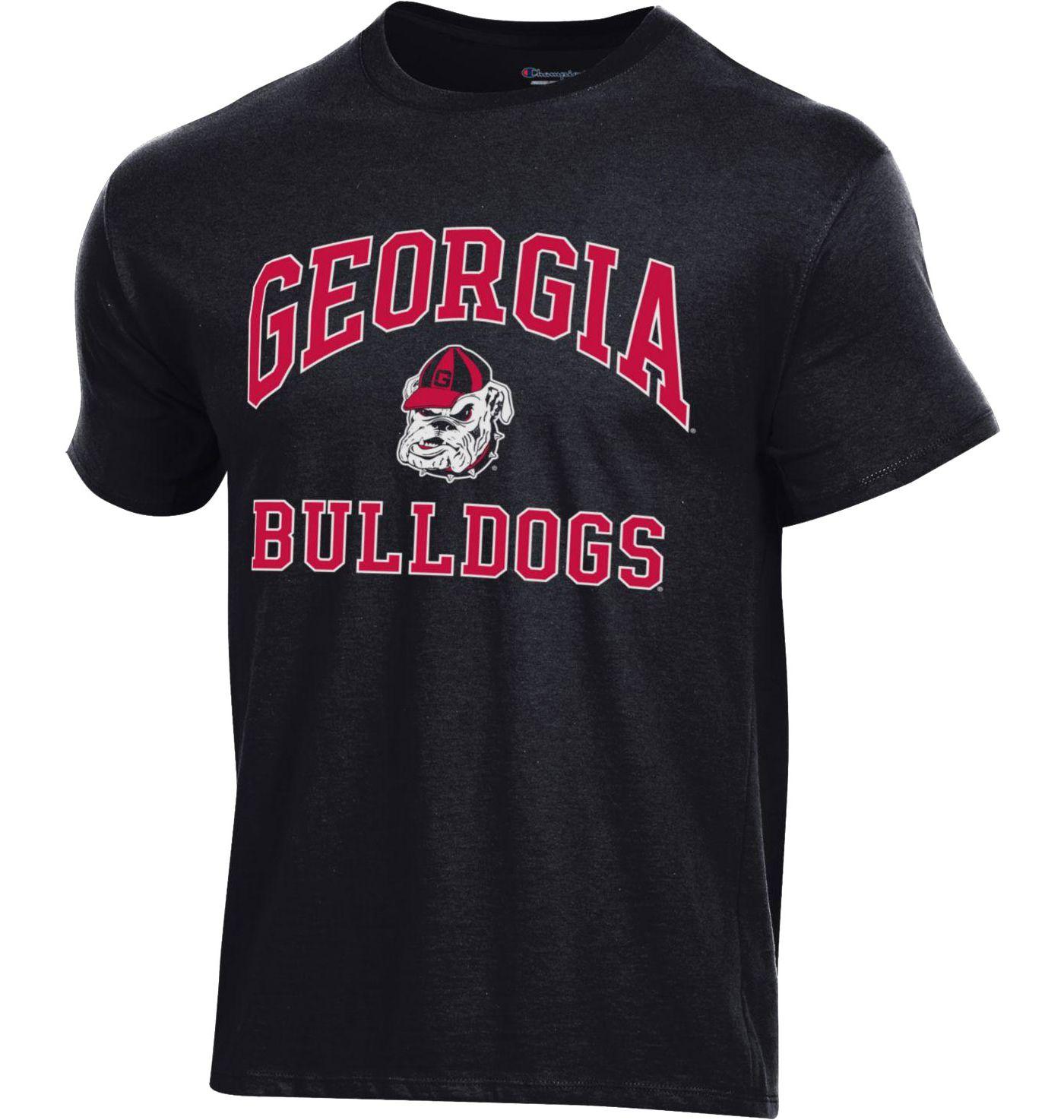 Champion Men's Georgia Bulldogs Ring Spun Black T-Shirt