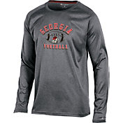 Champion Men's Georgia Bulldogs Grey Long Sleeve Football T-Shirt