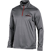 Champion Men's Georgia Bulldogs Grey Quarter-Zip Performance Shirt