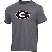 Champion Men's Georgia Bulldogs Grey Ring Spun T-Shirt