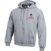 Champion Men's Georgia Bulldogs Grey Powerblend Full-Zip Hoodie